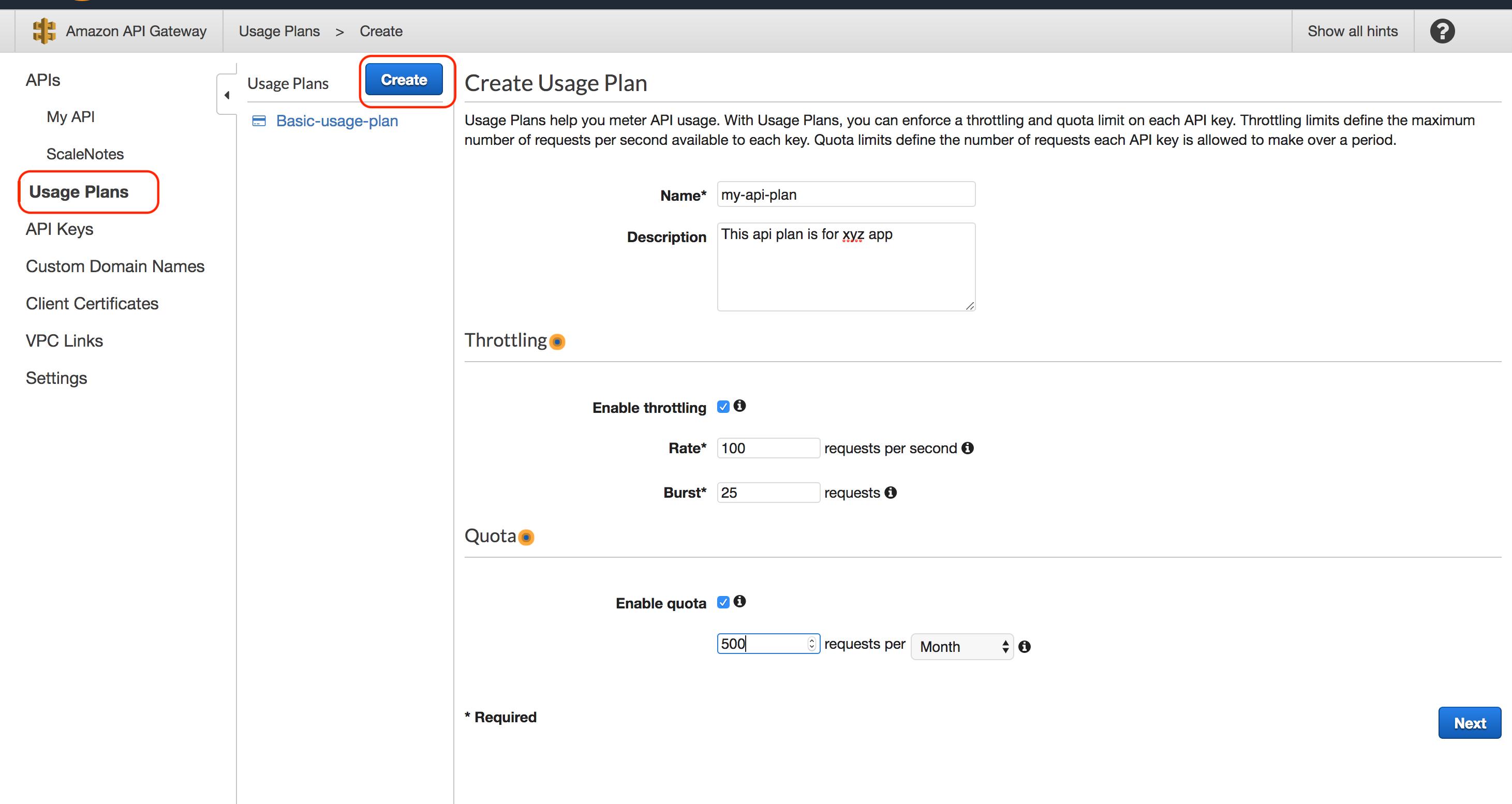 Protect AWS API Gateway Endpoints using API Keys | DataNext